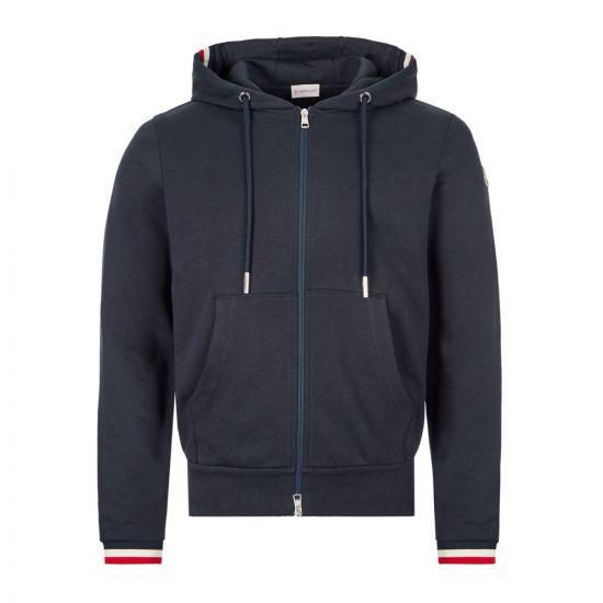 Moncler Zipped Hoodie | Navy 8G742 00 V8007 77 | Aphrodite