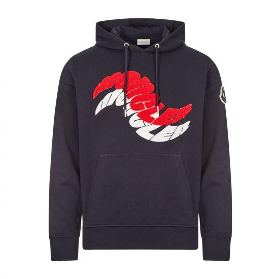 moncler hoodie wave logo 8G773 10 80985 778 navy