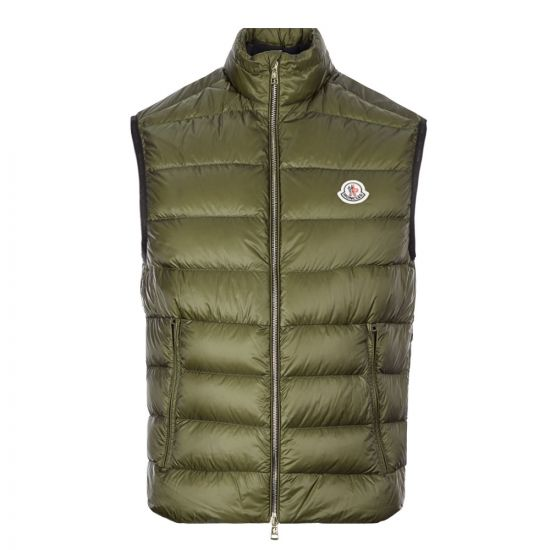 Moncler Iori Gilet 1A112 C0452 833 In Green At Aphrodite Clothing.