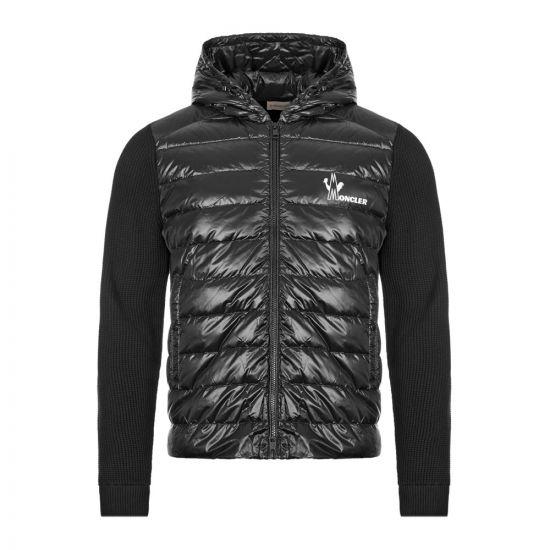 Moncler Hooded Cardigan   Black 9B501 10 V9099 999   Aphrodite
