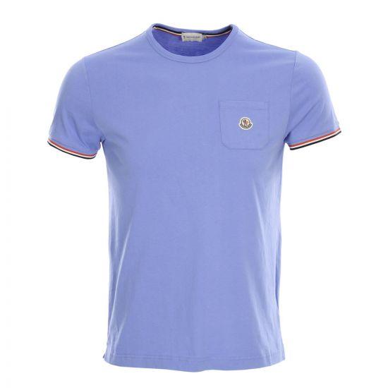 Moncler Pocket T-Shirt in Light Blue