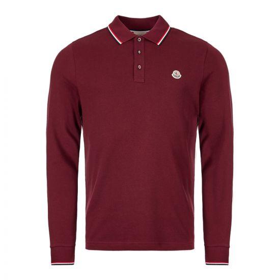moncler long sleeve polo shirt 83480 00 84556 464 burgundy