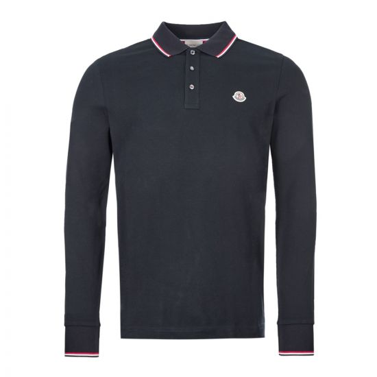 Moncler Long Sleeve Polo Shirt | 83480 00 84556 773 Navy