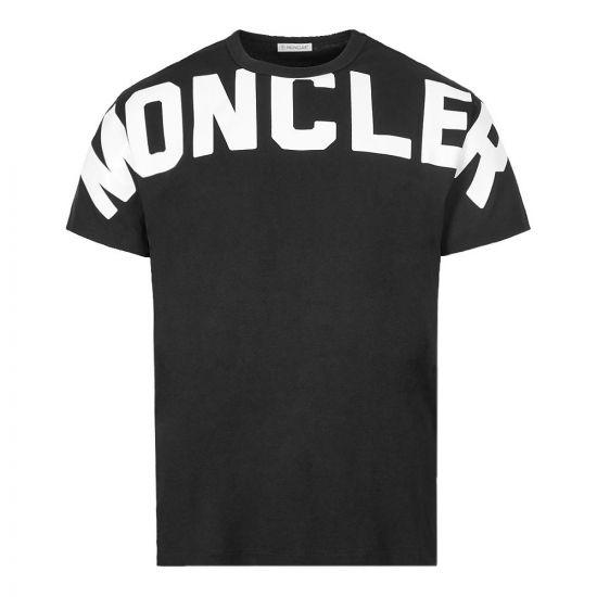Moncler T-Shirt Maglia Logo | 8C704|10|8390T|999 Black| Aphrodite Clothing