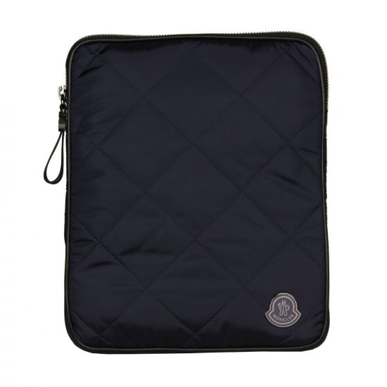 Moncler Quilted Tablet Case in Navy