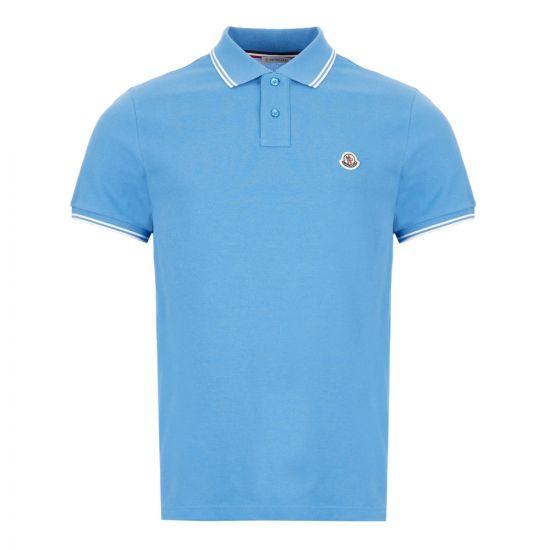 Moncler Polo Shirt - Blue 22075CP -1