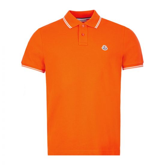 Moncler Polo Shirt 8A706|00|84556|326 In Orange At Aphrodite Clothing
