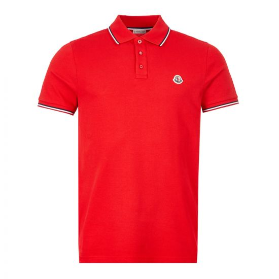 Moncler Polo Shirt - Red Tipped 21552CP -4