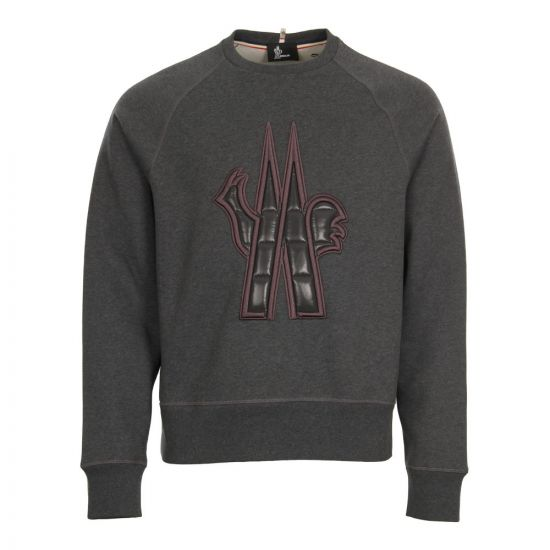 Moncler Grenoble Logo Sweatshirt 80002 50 80426 985 Grey