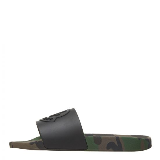 Moncler Sliders 10138 00 01ABB 839 Black / Camo
