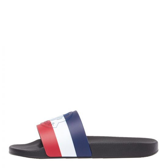 Moncler Sliders 10138 00 01A49 998 Navy / Red / White