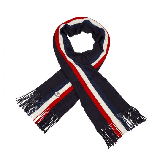 Moncler Scarf Striped 00026 00 02292 742 Navy / Red / White