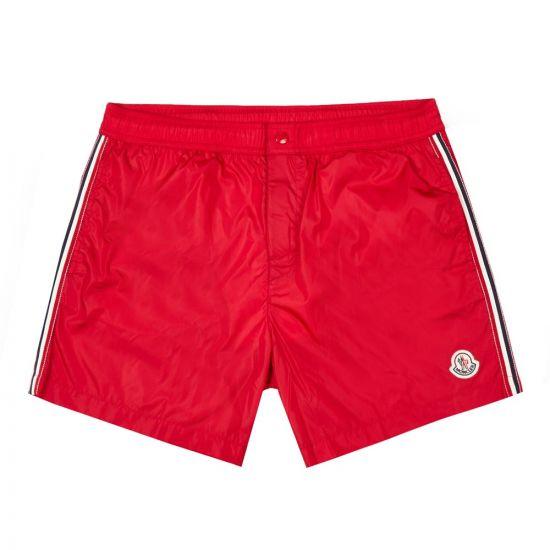 Moncler Swim Shorts | 2C707 00 53326 455 Dark Red