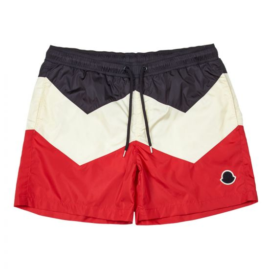 Moncler Swimshorts 00799 05 53326 741 Navy/Red/White