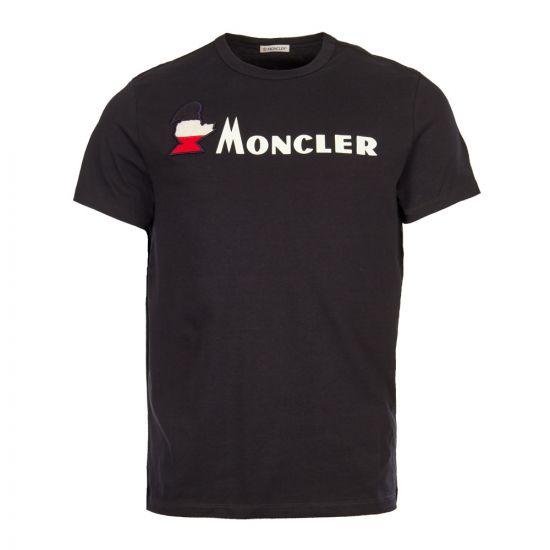 Moncler T-Shirt 80418 50 8390T 778 Navy