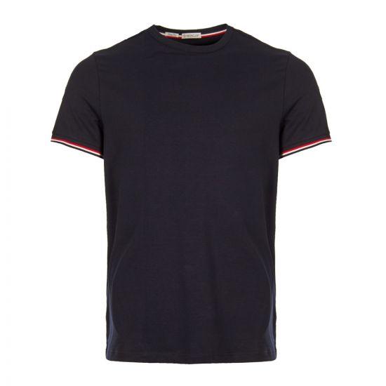 Moncler T-Shirt 80199|00|87296|778 Navy