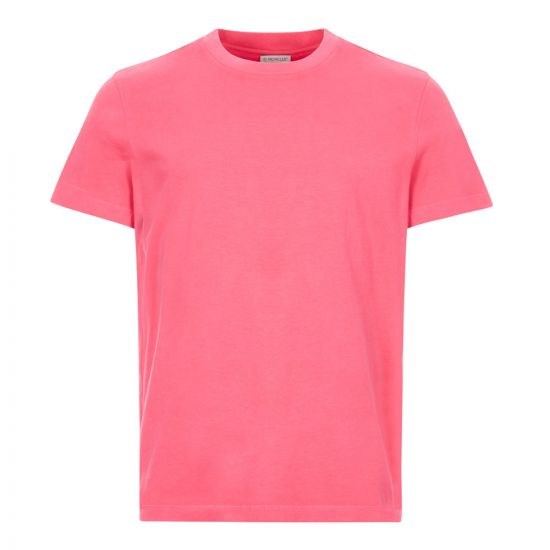 moncler t-shirt, 8C720 10 83901 570, pink