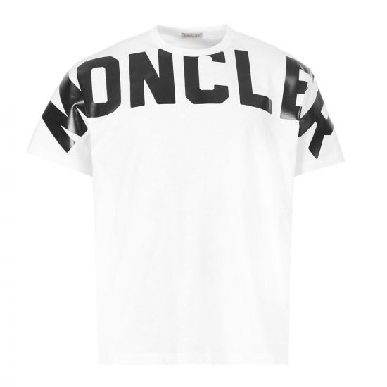 Moncler T-Shirt Maglia Logo - White  21558CP -4