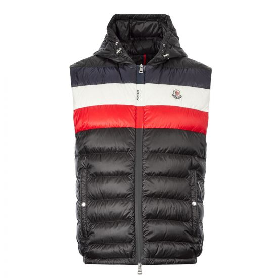 Moncler Timothe Gilet 1A114|00|C0453|999 In Black At Aphrodite Clothing