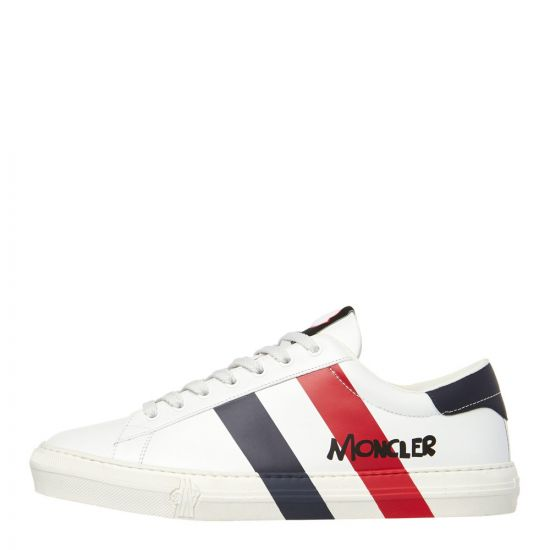 moncler shoes montpellier 10358 00 01A5U 002 white / red / navy