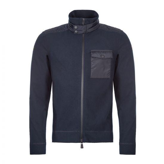 Moncle Zipped Fleece Cardigan 84005|00|80093|774 Navy At Aphrodite Clothing