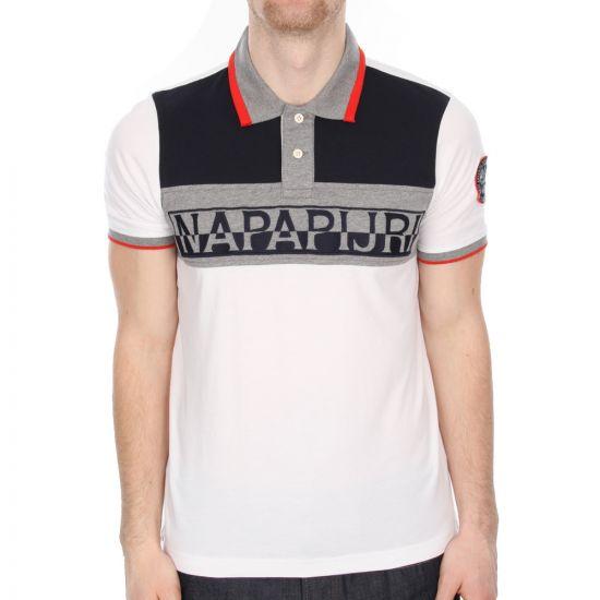napapijri escure polo shirt in white