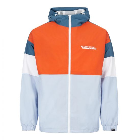 napapijri jacket algo NP0A4E66A31 orange / white / blue