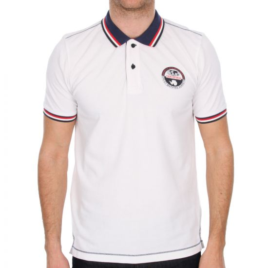 napapijri polo shirt in white