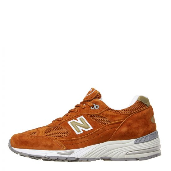 New Balance 991 Trainers M991SE Burnt Orange