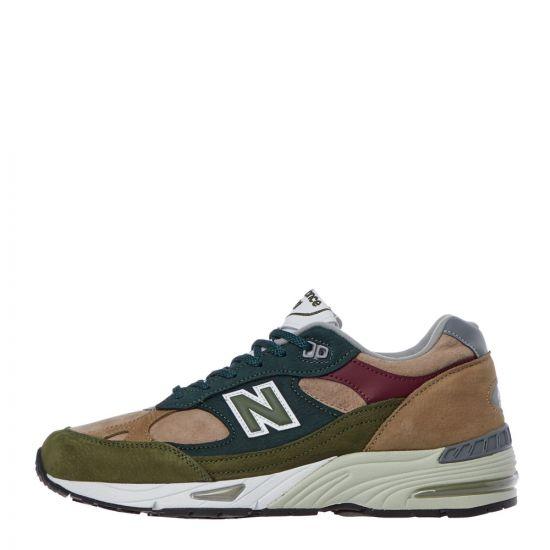 new balance 991 trainers M991NTG green / beige