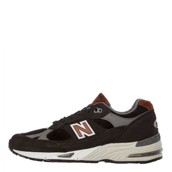 New Balance 991 Trainers | M991KT Black / Brown