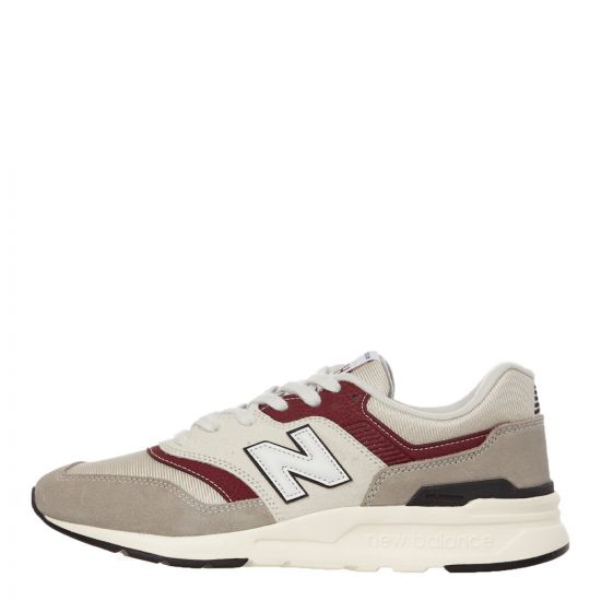 New Balance 997H Trainers | CM997HXN Moonbeam / Burgundy