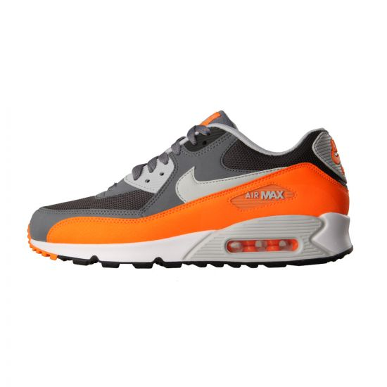 Nike Air Max 90 Essential Trainers Cool Grey Total Orange