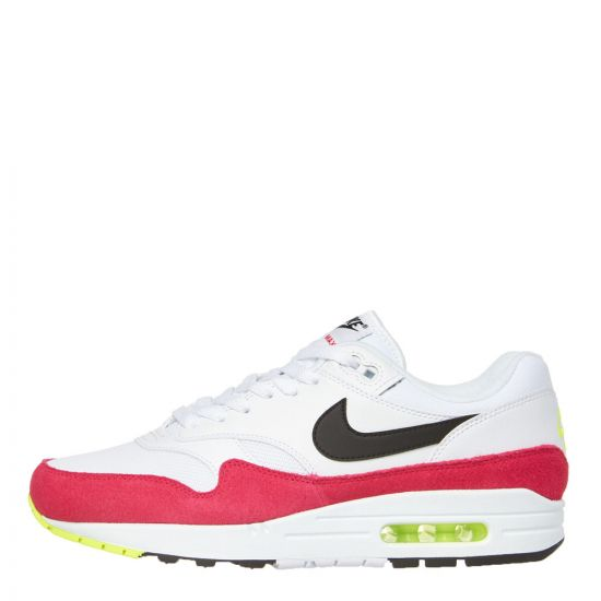 Nike Air Max 1 Trainers AH8145 111 in White / Rush Pink
