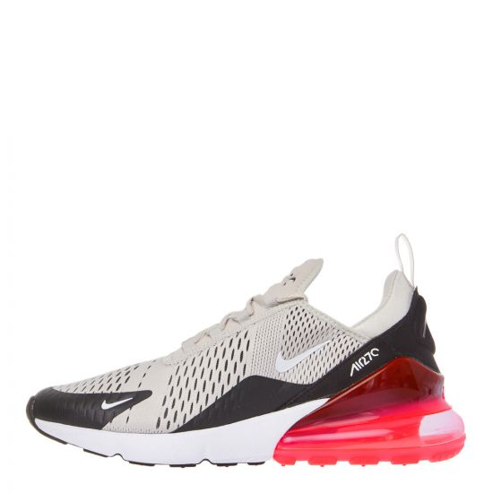 Nike Air Max 270 Trainers AH8050 003 Light Bone / Hot Punch
