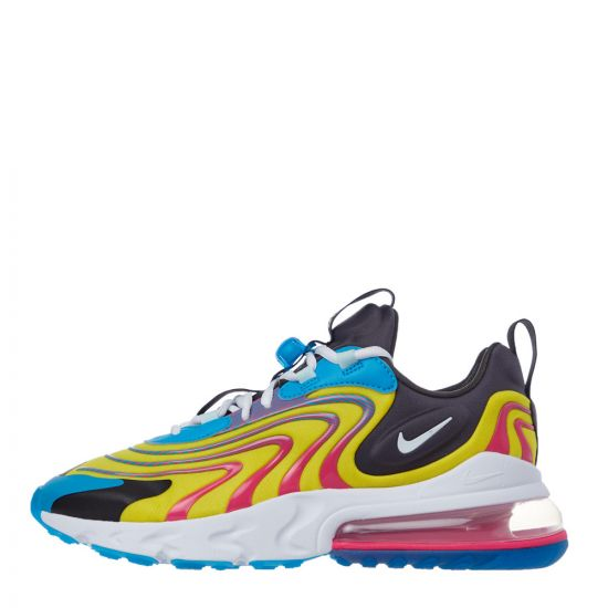 Nike Air Max 270 React ENG Trainers | CD0113 400 Blue / White / Yellow