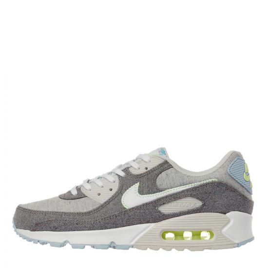 nike air max 90 nrg upcycled canvas trainers CK6467 001 grey