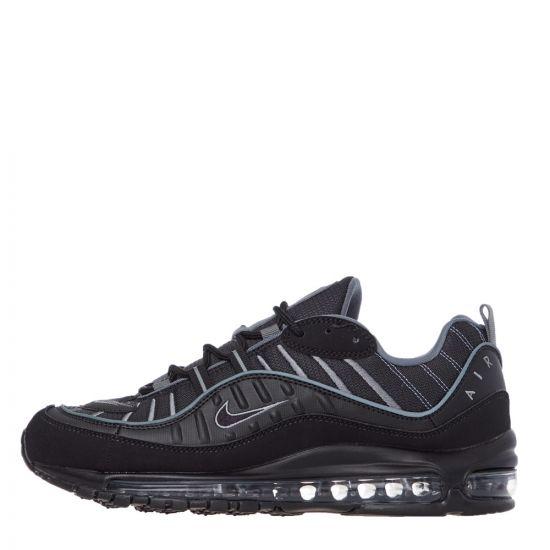 Nike Air Max 98 Trainers - Black  21627CP -1