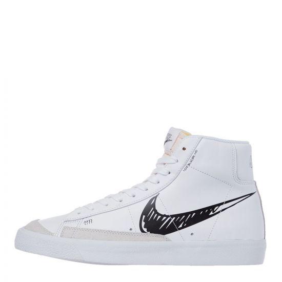 Nike Blazer Mid Vintage 77 Trainers   CW7580 101 White