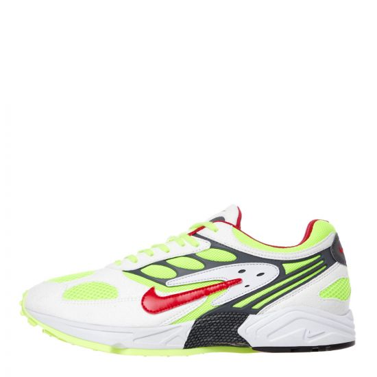 Nike Air Ghost Racer Trainers | AT5410 100 White / Red / Neon