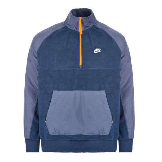 Nike Half Zip Fleece Jacket BV3596 410 Navy