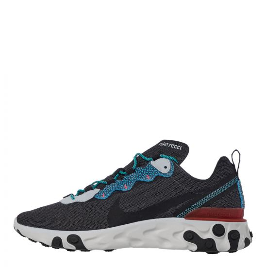 Nike React Element 55 SE Trainers - Grey / Blue 21915CP -1