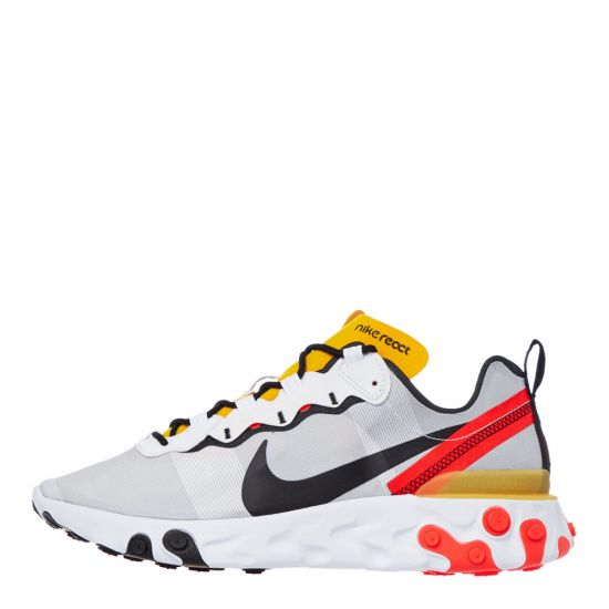 nike react element 55 trainers BQ6166 102 white / crimson