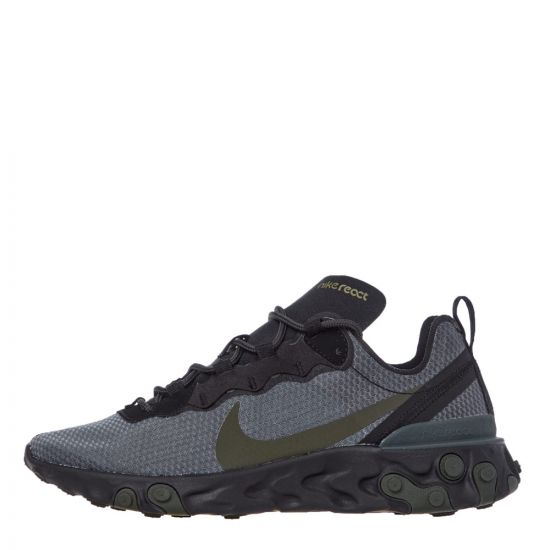 Nike React Element 55 Trainers - Black / Grey 21631CP -1