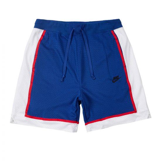 Nike Shorts Mesh | AR2418 438 Royal Blue / White
