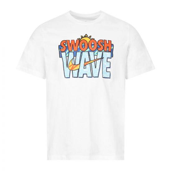 Nike T-Shirt Swoosh | CW0430 100 White | Aphrodite