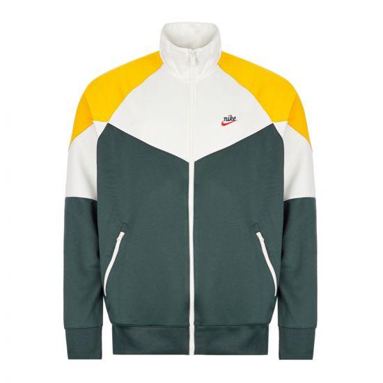 Nike Track Jacket - White / Green / Yellow 21442CP -1