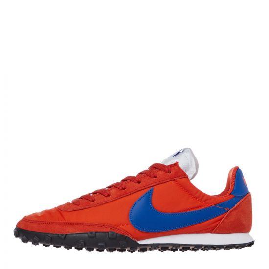 nike waffle racer trainers CN8116 800 orange / blue