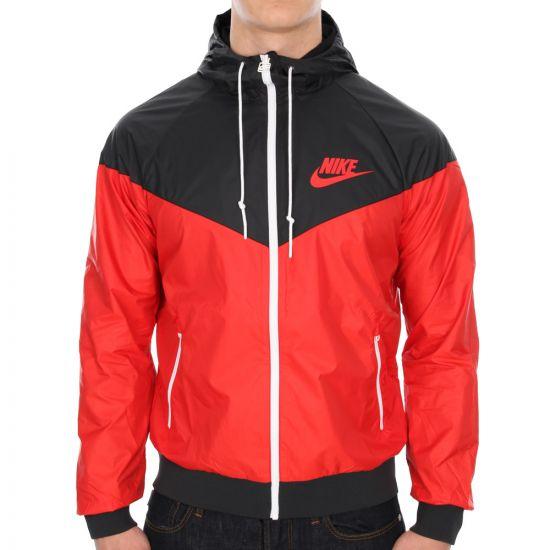 Nike Windrunner in Red / Black
