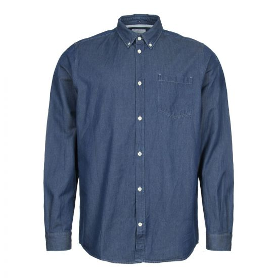 Norse Projects Anton Denim Shirt N40 0459 7523 Sunwashed